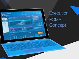 Execution  FCMS  Concept 后台系统视觉设计