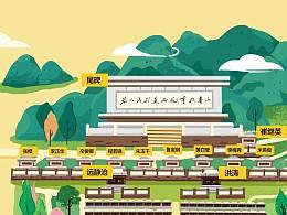 泰安烈士陵园手绘地图(手机导视图)