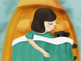 原创插画——甜梦