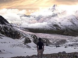 唐智临_SpaceShip Studio_matte painting_Great Mountain