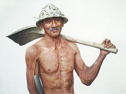 彩铅画——《农民伯伯》
