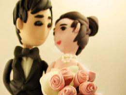 纸粘土 婚纱照