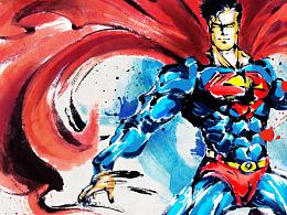 超人X水墨 Superman in Chinese-painting