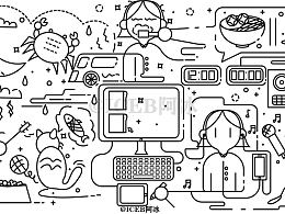 doodle线条风-我的生活