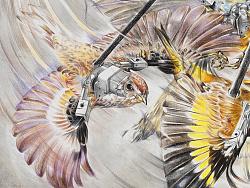 赵娜-《无用功》Futile Action -90×120cm-布面铅笔-2016
