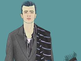 图说时尚  与GQ合作的两期插画儿