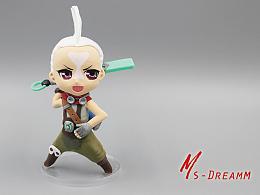 MsDreamm「艾克粘土人」时间刺客艾克手办 英雄联盟周边模型定制