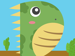 抽象的字母恐龙一只