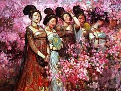 油画作品《阳春》