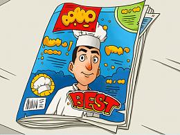 儿童插画-厨师