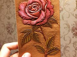 沙漠玫瑰——-皮雕皮艺皮塑