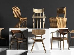 初冬午后阳光-原创单体现代椅子