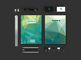 封面构成设计 晶格化