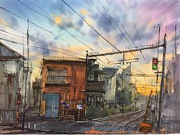 日本红绿灯路口