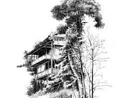 吊脚楼(一张老图)