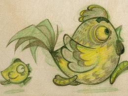 陈年老图之:卡通小鸡