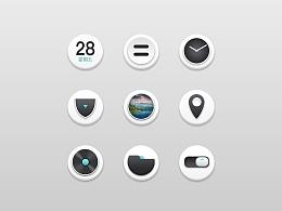 白色小立体商务风格 手机启动图标