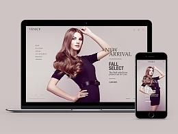 奢侈品电子商务网页设计