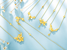 一组珠宝黄金场景