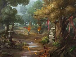 战乱的林间
