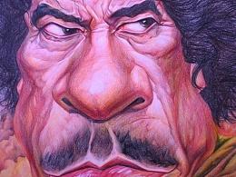 卡扎菲肖像漫画
