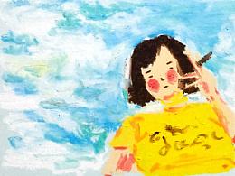 油画棒的童年