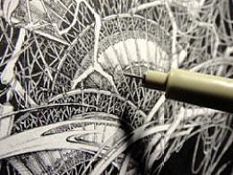 让笔尖画出你的内心世界···VIKI钢笔手绘(技法)分享——《岂泠》诞生记