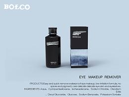 EYE   MAKEUP  REMOVER(三维化妆品包装盒设计)