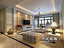 英地金台府邸135平三室两厅美式乡村装修效果图