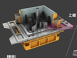 全自动造型机射砂原理三维仿真动画制作