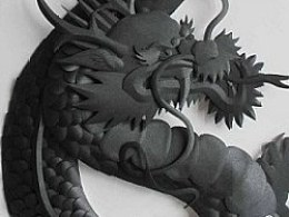 BlackDragon(80cm高,黑珠光paper)