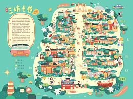 Big Show   福州三坊七巷手绘地图