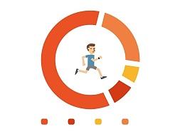 inWatch Run 宣传背景插图相关设计