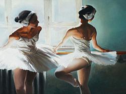 油画作品《芭蕾舞者》