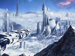 《冰冻城市》-mattepainting