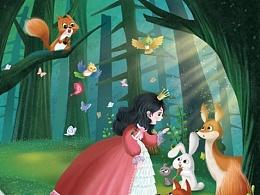 绘本《白雪公主》