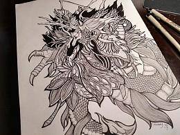 夔-针管笔绘画