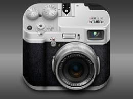黑色皮质,银色金属质相机