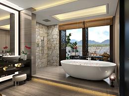 观景洗澡间