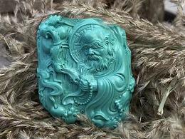 绿松石-《达摩渡江》