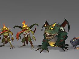 青蛙怪Frog Monster游戏角色设计