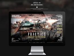 T34坦克合成banner海报(含素材和PSD源文件)