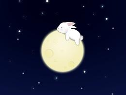 夜空的月亮是我心中的花