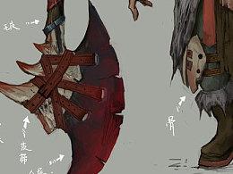 游戏人物设计原画-荒漠土匪
