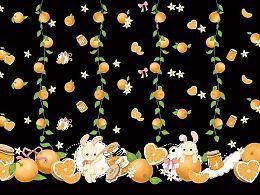 lolita印花 钻石甜心 橘子兔