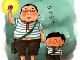 羽叔和小羽祝大家中秋节快乐