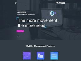 AWS-EMM官网网页界面设计