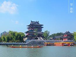 江苏泰州望海楼与老街风景拍摄