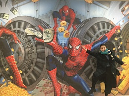 蜘蛛侠系列原创经典科幻3D地贴壁纸