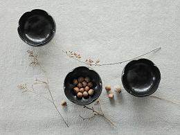 陶-花瓣碗
